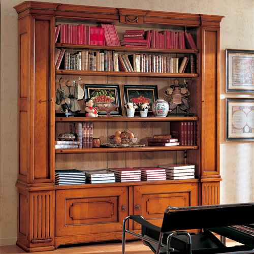 Librerie in legno classiche casa nobile for Interni case classiche